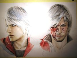 Nero and Dante in progress by Dewilish