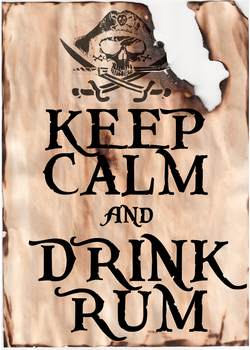 Keep Calm and Drink Rum by Scrabblicious