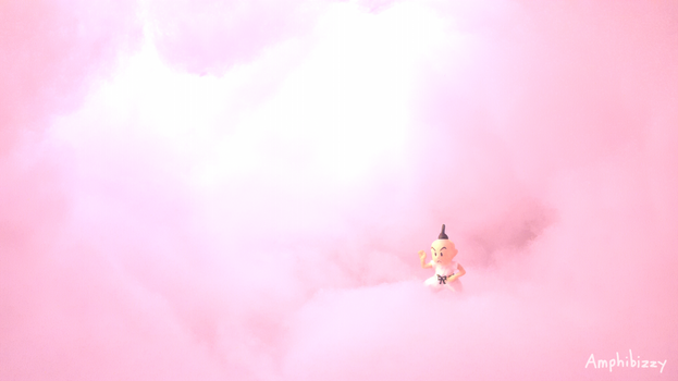 Prince Poo in Pink Cloud [EarthBound] by Amphibizzy
