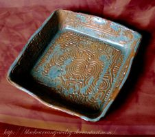 Square Bowl by blackcurrantjewelry