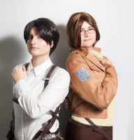 Levi and Hanji by LadyMino