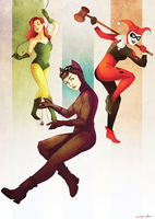 Gotham City Sirens by Kaywinnit