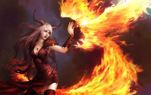 Phoenix_Demoness by Unodu