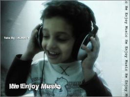 He Enjoy Music by alwafy