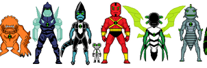 Ben 10 Micro Heroes - First Set of Aliens (AF/UA) by MilekHippy