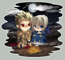 Saber and .... by Rosette-chan by Fate-Stay-Night