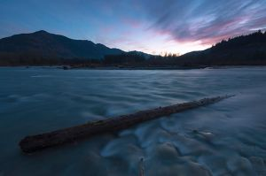 Chilliwack River Sunset by jasonwilde