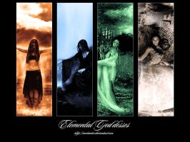 Elemental Goddesses by theycallmeteddy