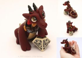 Steampunk Dice Dragon - Augustus by LitefootsLilBestiary