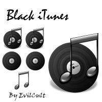 Black iTunes PNG by EvilCult