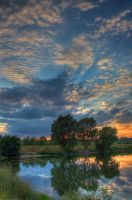 Sunset on the lake 2 print by Astroadamo