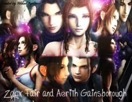 Zack and Aerith Background by NikzSmiileyface