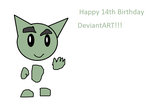 Happy 14th Birthday DeviantART!!! by Toongirl18