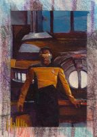 star trek tng 2 sketch card 4 by charles-hall