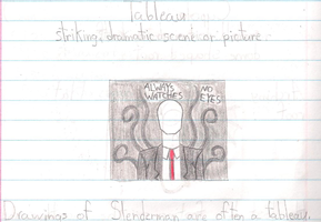 WHY ARE YOU IN MY HOMEWORK SLENDERMAN? by DRAGONLOVER101040