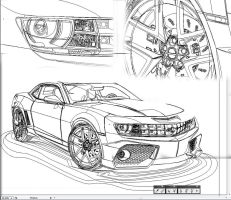 Outlines Chevrolet Camaro by Fresco24