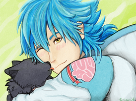 Aoba and little Ren by CrisisV