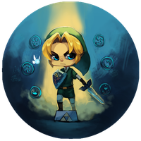 Adult Link - OoT Buttons by BloodnSpice