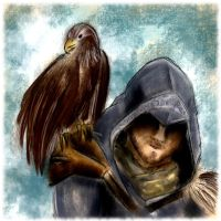 Ezio and the Eagle by SrSilversky
