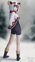 Winter Megumin in the Forest by Mad-Zoryc