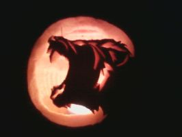 My pumpkin carving by ToxicDragonBlood