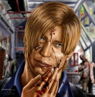 Resident Evil 6 Leon S Kennedy fan art by ThelastA