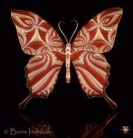 Symbol Butterfly 4 3d by INDRIKoff