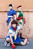 Street Fighter Girls by daydreamernessa
