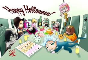 Espada Holloween Party -Chibi- by LokkNess