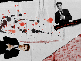 RDJ 'paper trash' wall by Tiate