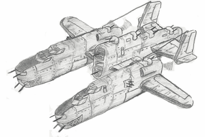 B-27 Panther Bomber by Pixel-pencil
