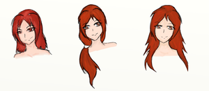red haired girls by Espeh