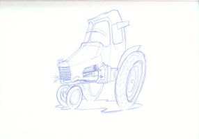 Pixar: cow-tractor by mattcantdraw