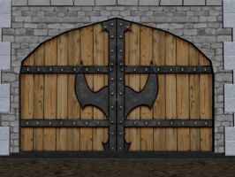 Asylum Front Door by ursus327