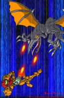 Confrontation with Ridley by BrokenTeapot