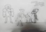 Steven Muscleverse and the Crystal Dudes [Sketch] by SuperMaster10