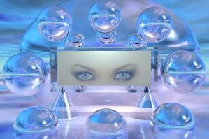Eyes captured in glass by docx