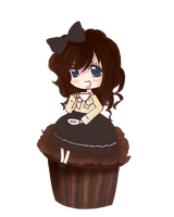 Doodle: Sitting on a Cupcake by Yepa-chan