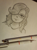Paper Sketch - Mihaela is gorgeous by DanielPencil