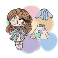 Patched up doll Adopt (CLOSED) by bunnyb133