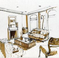 Interior drawing by hardcorish