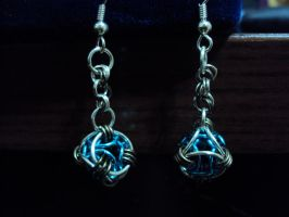 Bday pres: Helm Orb Earrings by altearithe