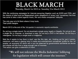THE BLACK MARCH PROTEST by chii-san-09