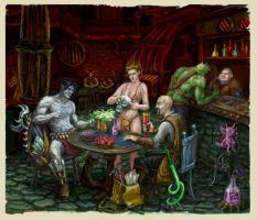 At the Smoldering Corpse Bar by Deusuum