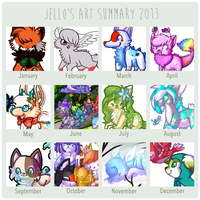 Art Summary 2013 by jennawing