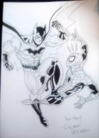 Batman vs Spider-Man convention sketch by LucianoVecchio