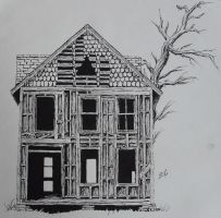 Ink- Old House by Xhisteriah