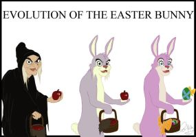 Evolution Of The Easter Bunny by elizabethmuller