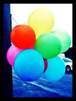 colorful balloons by skullxxdoll