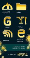 24 Carat Funny Gold Icons by 878952